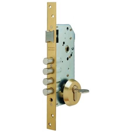 Cerradura Seguridad Madera Embutir 50Mm R100B566C Cromo 1Punto Tesa