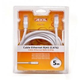 Cable Multimedia 5Mt Ethernet Axil Rj45 Cat 6 Av 0182 E 5 Mt
