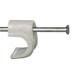 Grapa Electricidad  6 Cable Fischer Plastico  Blanco Gc 98856