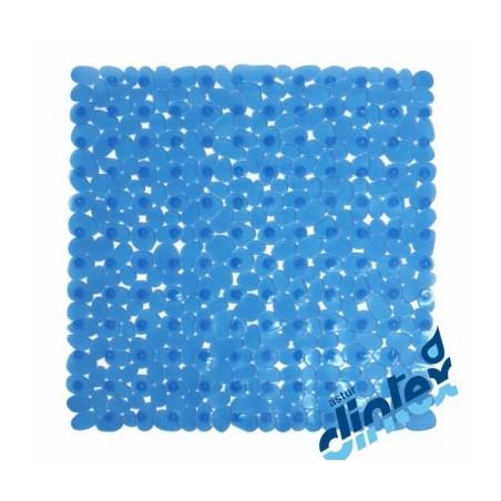 Alfombra Baño Antideslizante 54X54Cm Ducha Azul Marelia Dintex