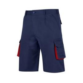 Pantalon Trabajo T44 Corto Tergal Azul/Rojo Cargo Vesin