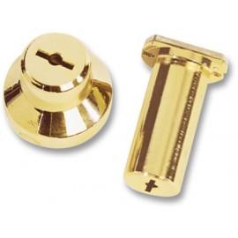 Cilindro Seguridad  50Mm 21 Dorado Doble Pompa Cerraduras Cr Cr