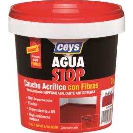 Pintura Impermeabilizante Caucho/Acrilico 1 Kg Gris Fibra  Aguastop