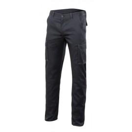Pantalon Trabajo T44 Elastico Tergal Negro Velilla