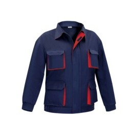 Cazadora Trabajo T62 Tergal Multibolsillos Azul/Rojo Linea 5000 Vesin