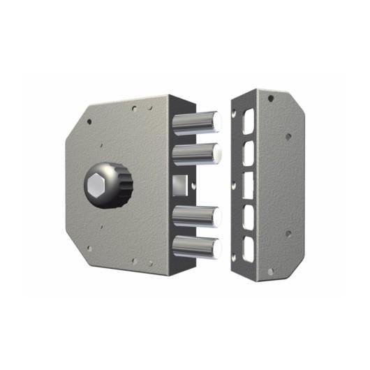 Cerradura Seguridad Sobreponer  130X164X32Mm 3050Crd Cromo Entrada 60 Derecha Cr
