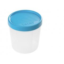 Hermetico Alimentos Redondo 1,0Lt Con Rosca Azul Plastico Tatay