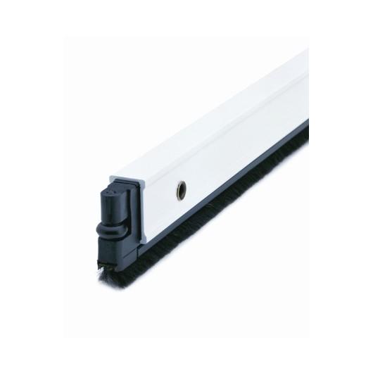 Burlete Bajo Puerta 092Cm Tornillos Cepillo Aluminio Blanco Almalock-2 Alma