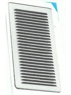 Rejilla Ventana Plana 100X200Mm Aluminio Esmaltado Blanco C/Pat
