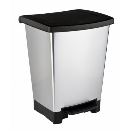 Cubo Basura  Reciclaje 25Lt Con Pedal 2Compartimentos Plastico  Gris/Plastico  Curver