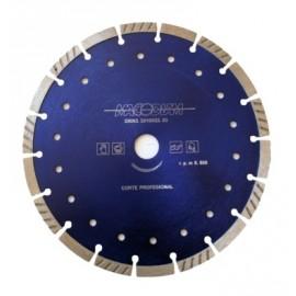 Disco Corte Profesional  Segmentado 230 Mmx10Mm Turbo Diamante  MacoDiamante