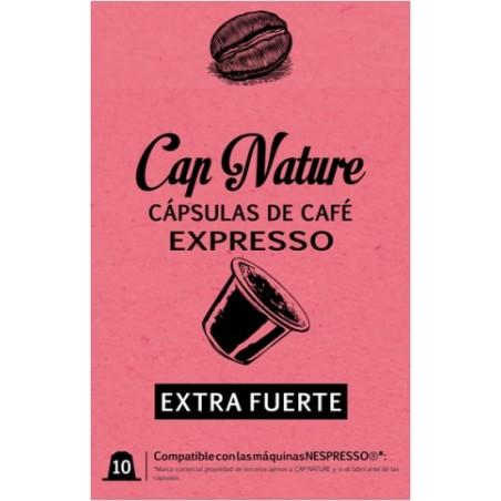 Capsula Cafe Extrafuerte Expresso Capnature 10 Pz