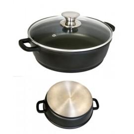 Cacerola Baja 30Cm Con Tapa Aluminio/Fundido Ecostone Cookware