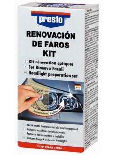 Pulidor Coche Faros 3 Lijas Gamuza Taco Spray Laca Motip