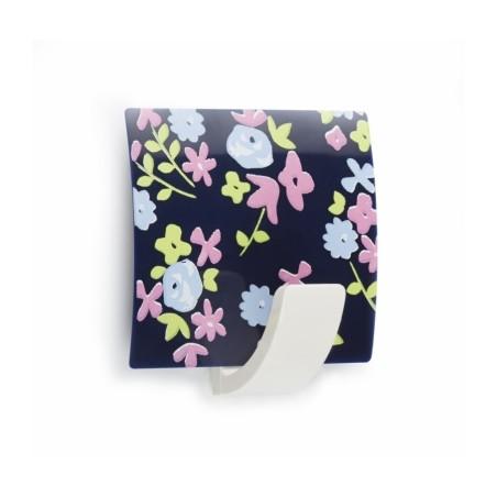 Colgador Hogar 42X40X25Mm Adhesivo Cuadrado Plastico Floral Azul 2310-A- Inofix