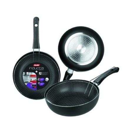 Sarten Cocina Freidora 24Cm Ant.Teflon Inducta Alu.Forj Ibili