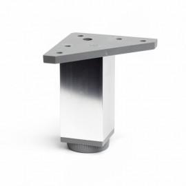 Pata Mueble 40X40X100Mm Cuadrada  Aluminio Cromo