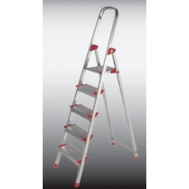 Escalera Domestica Tijera 0,80Mt 4 Peldaños Aluminio  New Plus Ktl