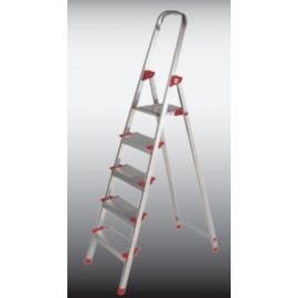 Escalera Domestica Tijera 1,02Mt 5 Peldaños Aluminio  New Plus Ktl
