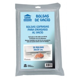 Bolsa Alimentos Vacio 20X30Cm Malla Polietileno/Poliamida Garhe 50 Pz