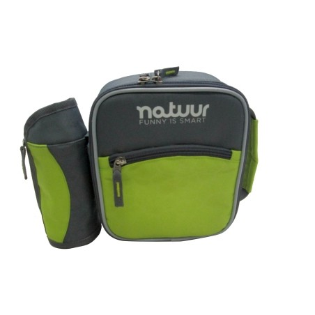 Nevera Camping  3Lt Flexible Verde/Gris Portatil Botellas