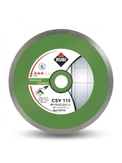 Disco Corte Porcelanico  Banda Continua 115X22,2 Mm Diamante  Csv115Pro Rubi