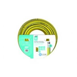 Manguera Riego 25Mt-15Mm 5C  Amarillo Tricotada 25 M