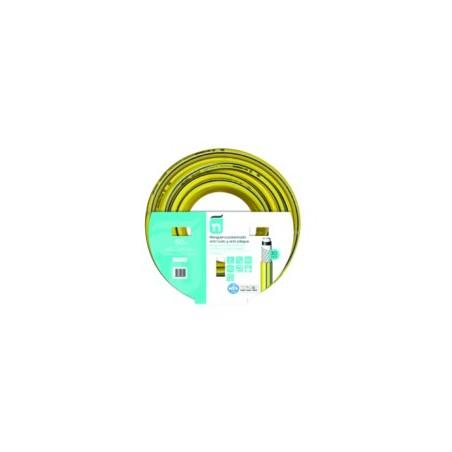 Manguera Riego 50Mt-15Mm 5C  Amarillo Tricotada 50 M