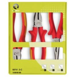 Alicate Electricista Universal 180+Ct160+B/R200 1000V Mango Bimaterial Irimo 3 Pz