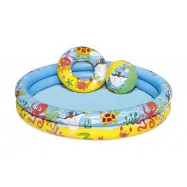 Piscina Hinchable Circular 122X20Cm Infantil Peces