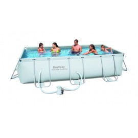Piscina Pvc Rectangular 404X201X100Cm Cartucho 6478Lt Power Steel