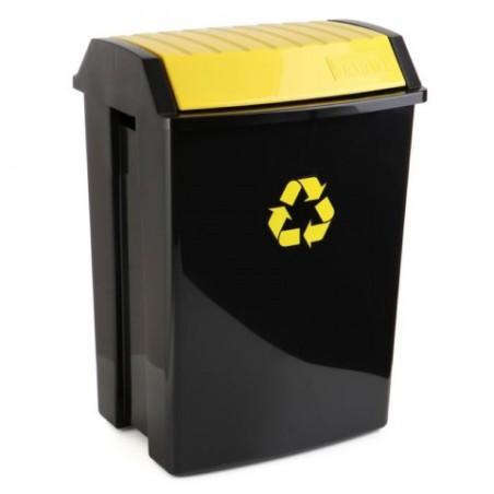 Contenedor Reciclaje  50 Lt 40X35,5X57,5Cm Tatay Plastico Amarillo 110