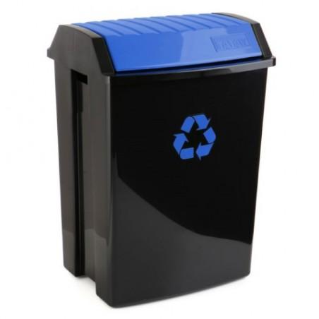 Contenedor Reciclaje  50 Lt 40X35,5X57,5Cm Tatay Plastico Azul 1102300