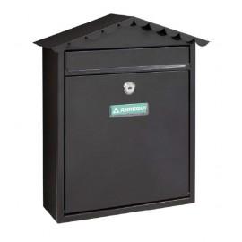 Buzon Exterior 360X300X110Mm Vertical Arregui Acero Negro Visit E5744