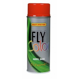 Pintura Acrilica Brillante 400 Ml Ral 3020 Rojo Trafico Fly Color