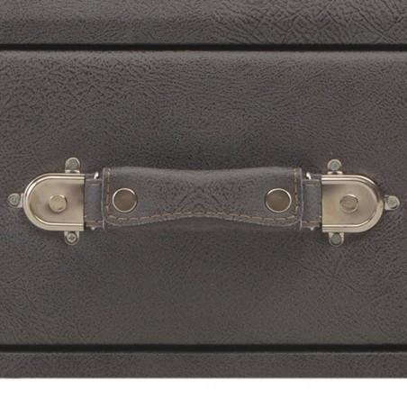 Banco con cajones cuero sintético gris 80 cm