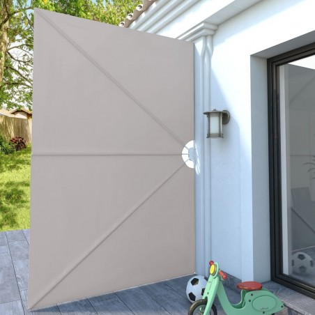 Toldo lateral plegable terraza color crema 300x200 cm