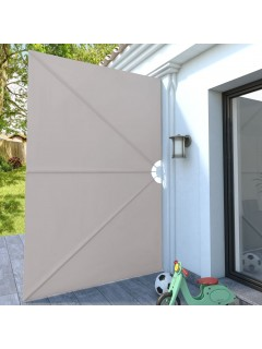 Toldo lateral plegable terraza color crema 300x200 cm