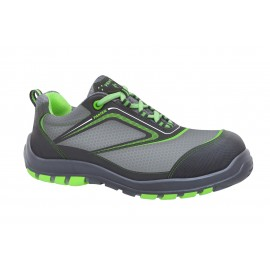 Zapato Seguridad 40 S3 Pu-Tpu Pun.Plas Nairobi Tejido Tec Gr/Ver P