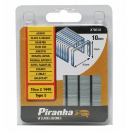 Grapa Grapadora 10X9,5 Mm X70510 Piranha 1.440 Pz