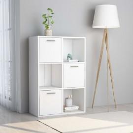 Armario de almacenamiento aglomerado blanco 60x29,5x90 cm