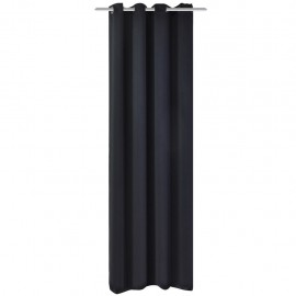 Cortina opaca con ojales de metal 270x245 cm negra
