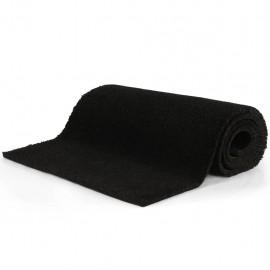 Felpudo de fibra de coco negro 17 mm 190x200 cm