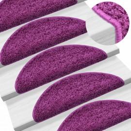 Alfombrillas de escalera 15 unidades violeta 65x25 cm