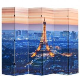 Biombo divisor plegable 228x170 cm París de noche