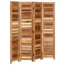 Biombo de madera maciza reciclada 170 cm