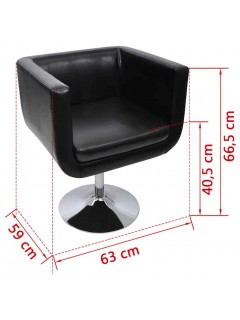 Taburete de bar 2 unidades cuero artificial negro