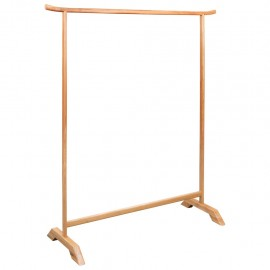 Perchero de ropa de madera maciza de roble 125x175 cm