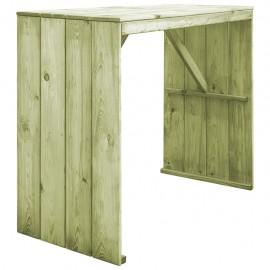Mesa de bar de madera de pino FSC impregnada 130x60x110 cm