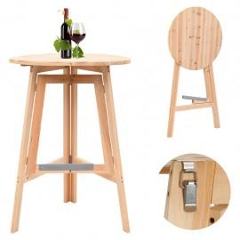 Mesa de bar plegable de madera de abeto 78 cm